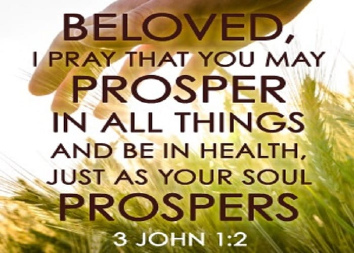 Is it God's Will For You toProsper?